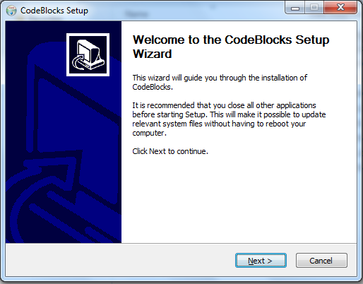 Code Blocks Install Wizard