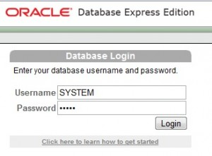 oracle login screen