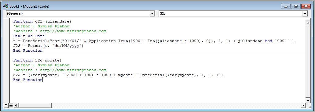 jde julian date converter excel function - NimishPrabhu.com