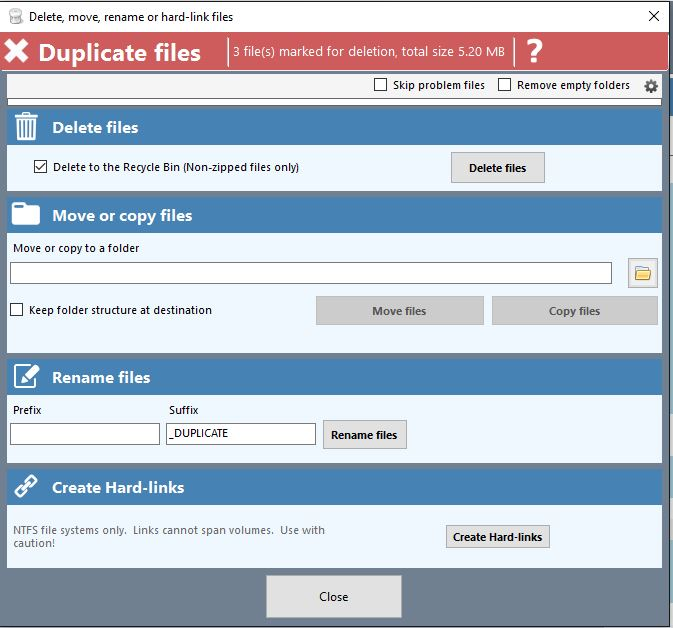 Duplicate Cleaner 4 Delete Files