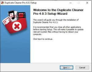 Duplicate Cleaner 4 Installation Step 2 Welcome