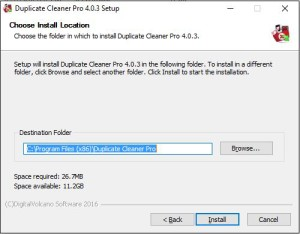 Duplicate Cleaner 4 Installation Step 5 Install Location