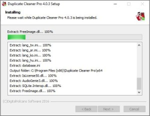 Duplicate Cleaner 4 Installation Step 5.1 Install Progress