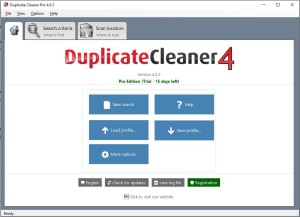 Duplicate Cleaner 4 Start Home Screen